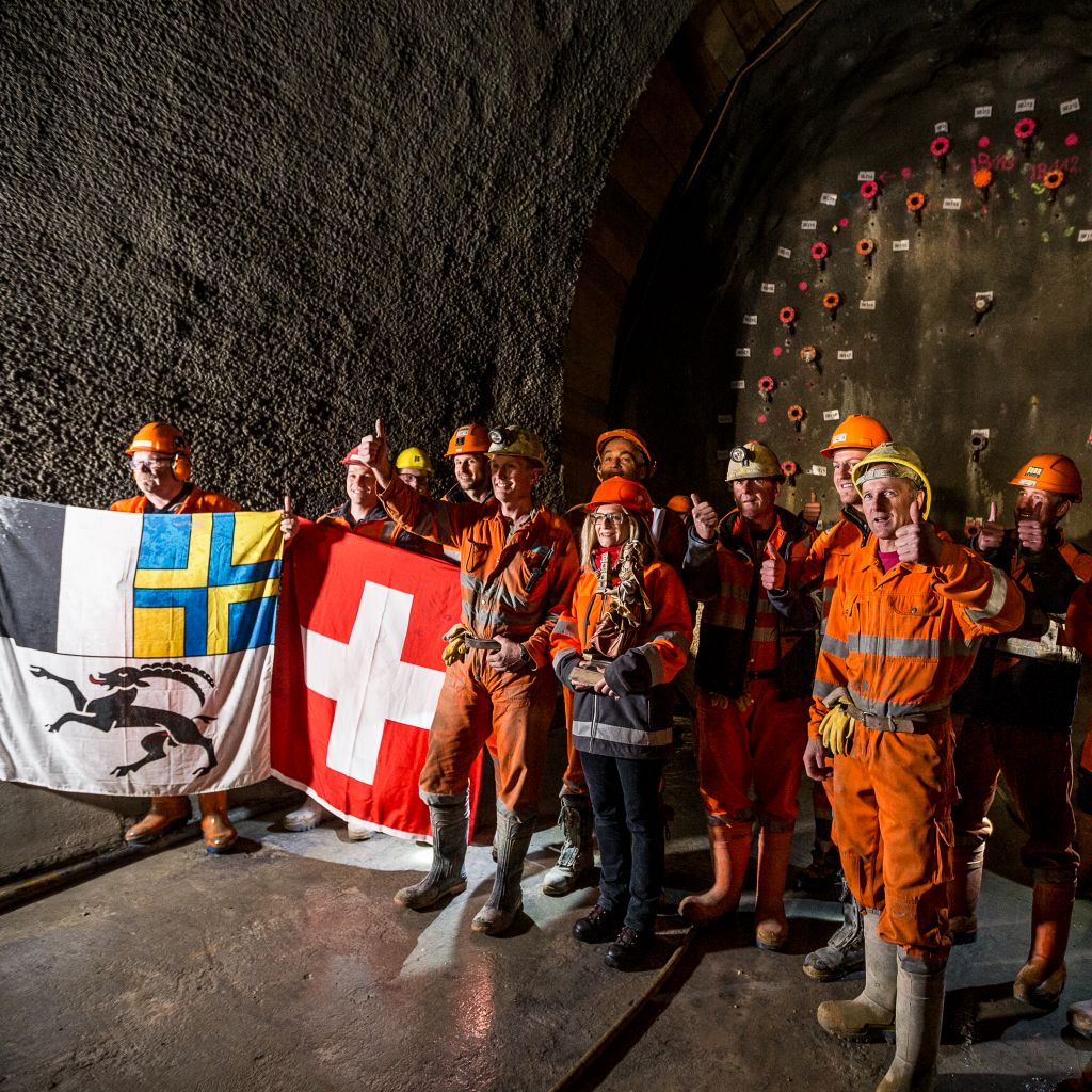 17.10.2017 - First breakthrough in the Albula Tunnel -