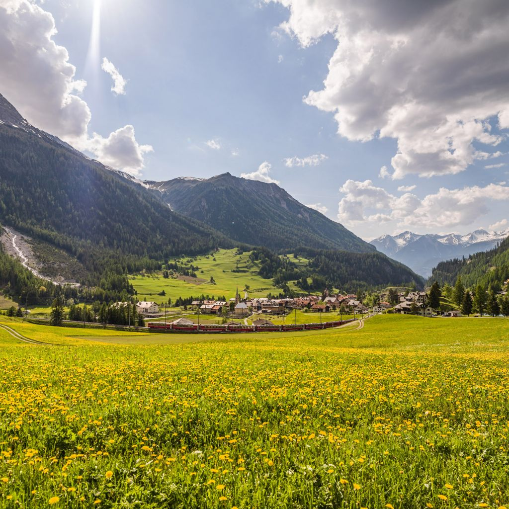Bergün: A municipality in the Alps -