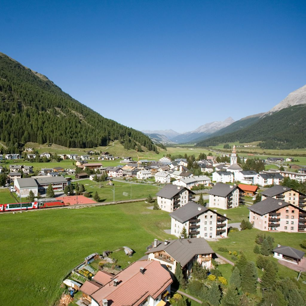 In the astonishing Upper Engadin: Bever -