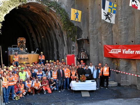 31.08.2015 - Work begins on the reconstruction of the Albula Tunnel