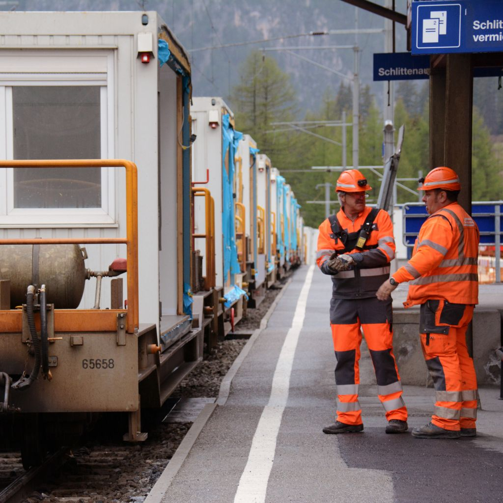 Customised transport solutions of the RhB's goods railway -